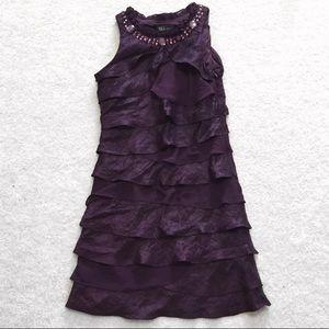 Dresses & Skirts - Purple ruffled dress